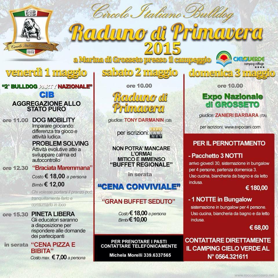 Expocani Calendario.Circolo Italiano Bulldog Agenda Prossimi Appuntamenti